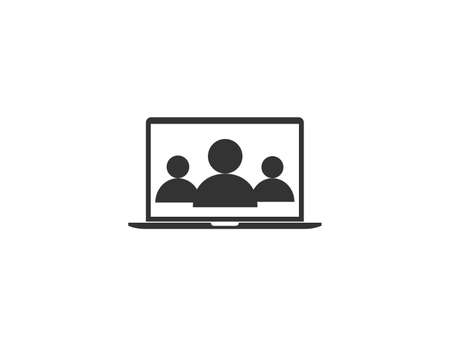 Video conference, job, meeting icon. Vector illustration.