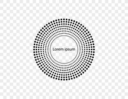 Halftone dots in circle form, logo. Vector illustration. 向量圖像