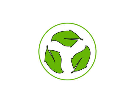 Eco, leaves, recycle icon. Vector illustration, design.