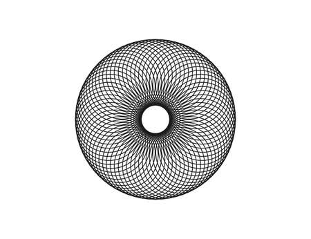 Spirograph abstract element on white background. Vector illustration.
