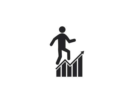 Vector illustration. Business, businessman chart graph profit icon 向量圖像