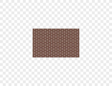 Vector illustration. Bricks wall work icon Ilustração