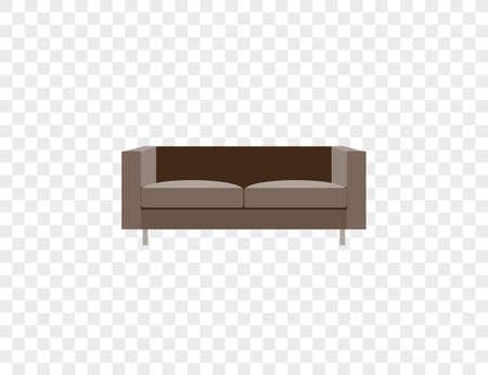Vector illustration. Armchair sofa furniture icon Ilustração