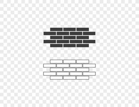 Vector illustration. Bricks wall work icon Vectores
