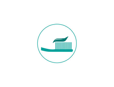 Vector illustration. Brush, cleaning toothbrush toothpaste icon 向量圖像