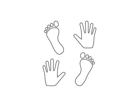 Vector illustration. Hand foot icon Vectores