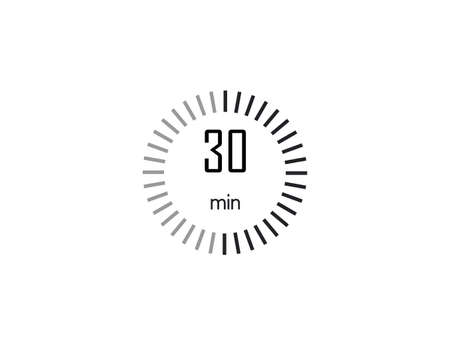 Vector illustration. Timer stopwatch icon