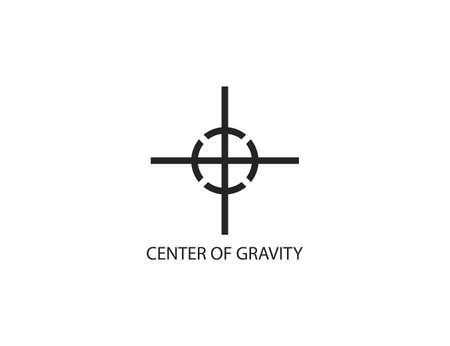 Center of gravity symbol icon white