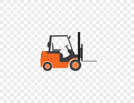 Vector illustration. Fork truck transport icon