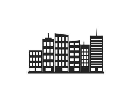 Vector illustration. City landscape view flat