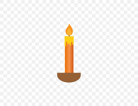Candle, decoration, fire icon. Vector illustration. flat design.