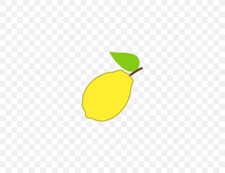 Fruit, lemon icon. Vector illustration. Flat design. 向量圖像