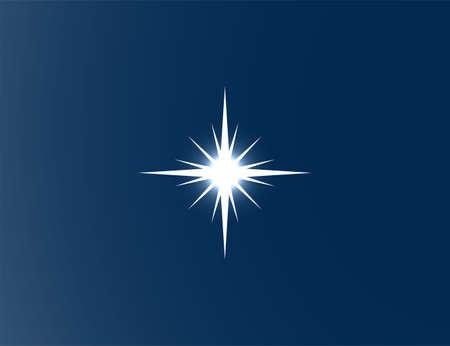 Vector illustration. Shiny star light effects 向量圖像