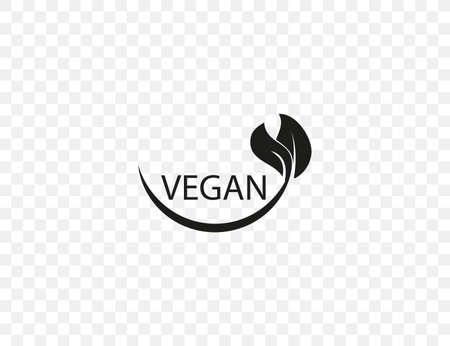 Vector illustration. Vegan leaf natural icon
