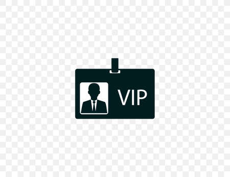 ID card, vip icon. Vector illustration. flat design.