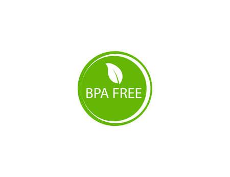 Bpa free, label, eco icon. Vector illustration. flat design.