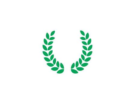 Wreath, award, victory icon. Vector illustration. flat design.