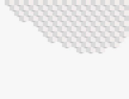 Abstract white geometric background, 3d paper art style. Vector illustration.