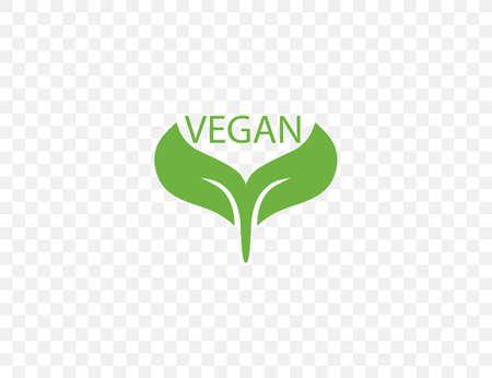 Vegan, leaf, natural icon on transparent background. Vector illustration. 向量圖像