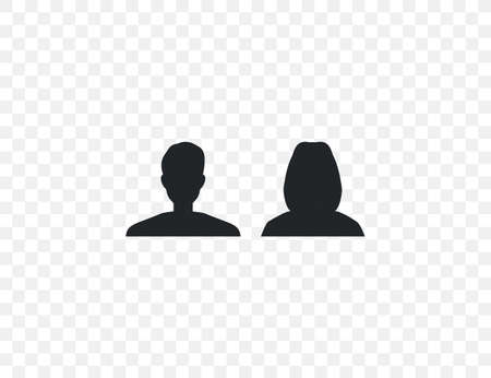 Male and female, people, users icon. Vector illustration.