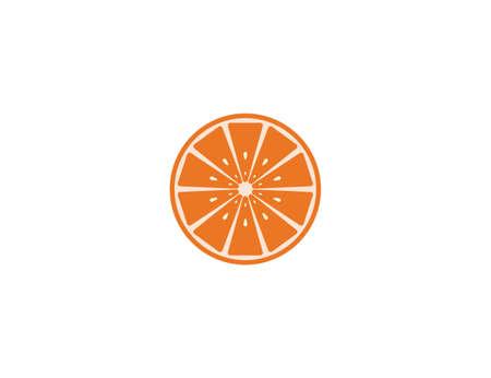 Fruit, orange icon Vector illustration Flat