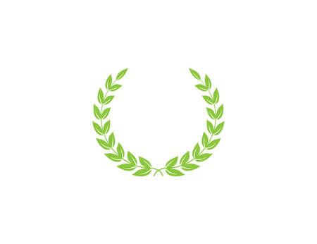 Vector illustration. flat design. Wreath award victory icon