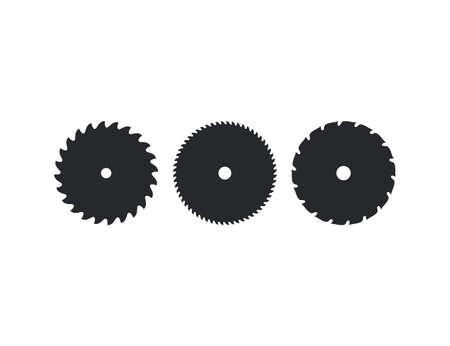 Vector illustration. flat design. Saw blade, circular blade icon 向量圖像
