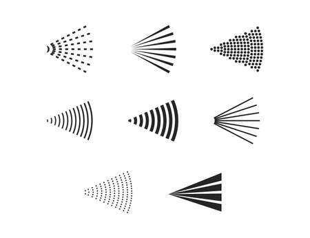 Vector illustration. Aerosol, bottle, spray icon Vector illustration Flat design