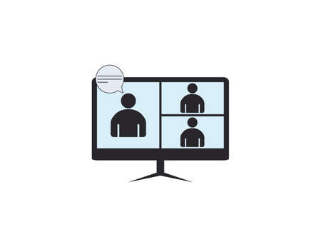 Interview icon, online video conference