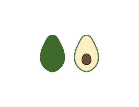 fruit icon flat vector illustration