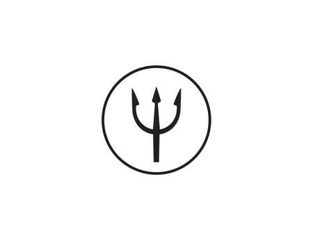 Vector illustration. Hell instrument trident icon Иллюстрация