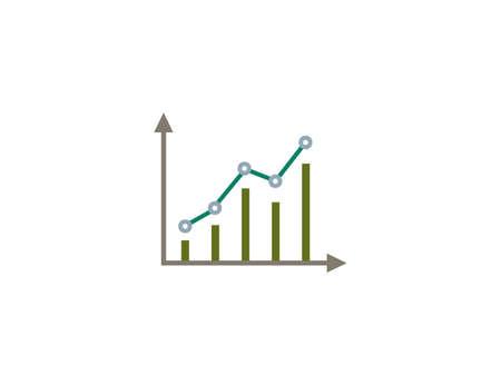 Vector illustration. Flat design. Bar graph growth icon Иллюстрация
