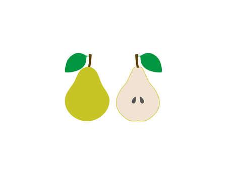 Pear, fruit icon flat fruit