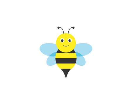 Bee, Cute bee, beetle, honey icon Vector illustration Flat design Иллюстрация