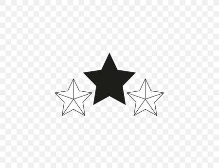 Vector illustration. flat design. Evaluation rating stars icon