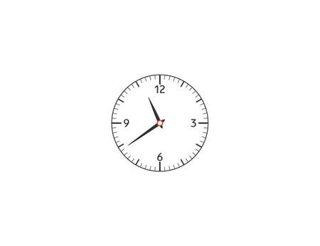 Vector illustration. Clock period hours icon