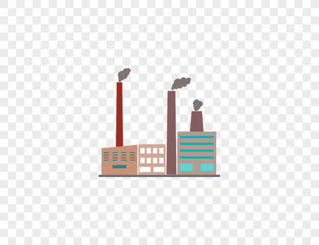 Vector illustration. Building factory industry icon