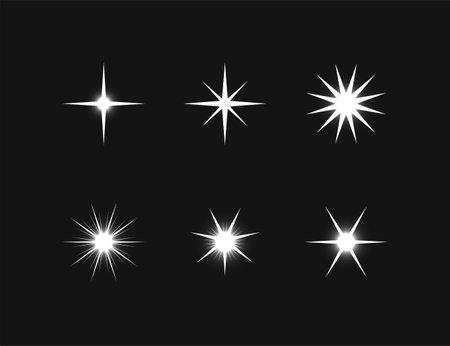 Vector illustration. Decorative Light Effects