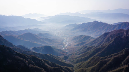 Wonderful landscape of the Great Wall of China