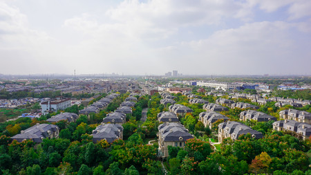 Suburb of Shanghai City in China