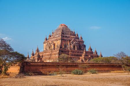 Beautiful ancient buddhist temple in Bagan, Myanmar Stock Photo