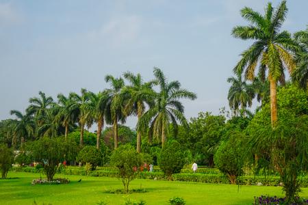 Beautiful park in Victoria Memorial. Kolkata, India