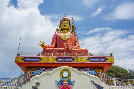 The huge statue of Guru Rinpoche in the state of Sikkim, India