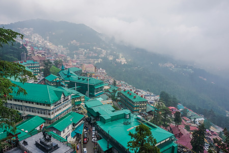 Landscapes of the city of Shimla, India