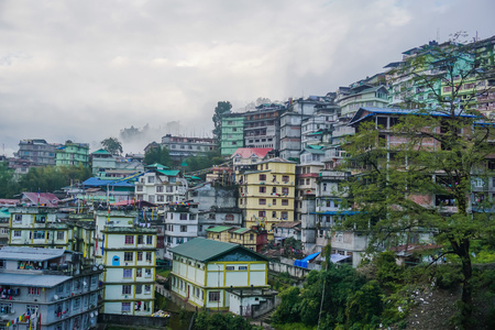 Landscapes of the city of Gangtok in Sikkim, India