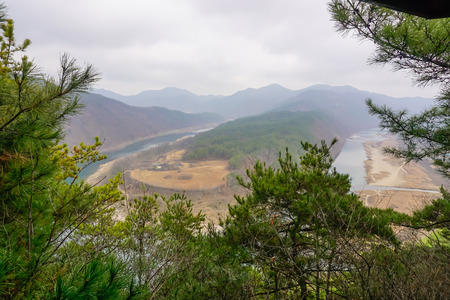 Beautiful landscape of south korea
