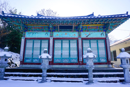 Buddhist temple in South Korea Imagens