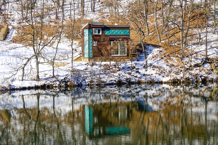 House on the lake. South Korea