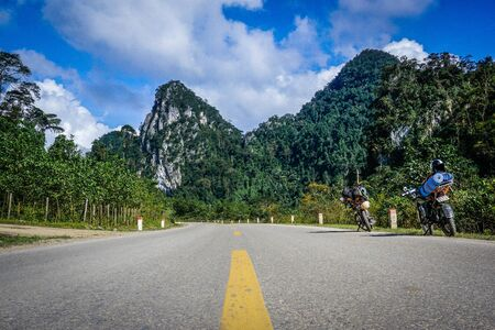 The road among the mountains in Vietnam