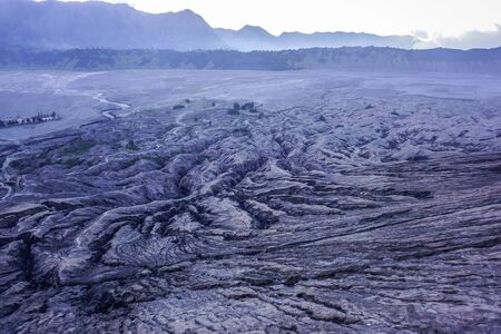 Apocalyptic landscapes from the top of Bromo volcano